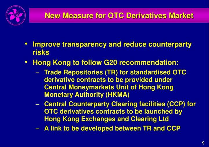 New Measure for OTC Derivatives Market