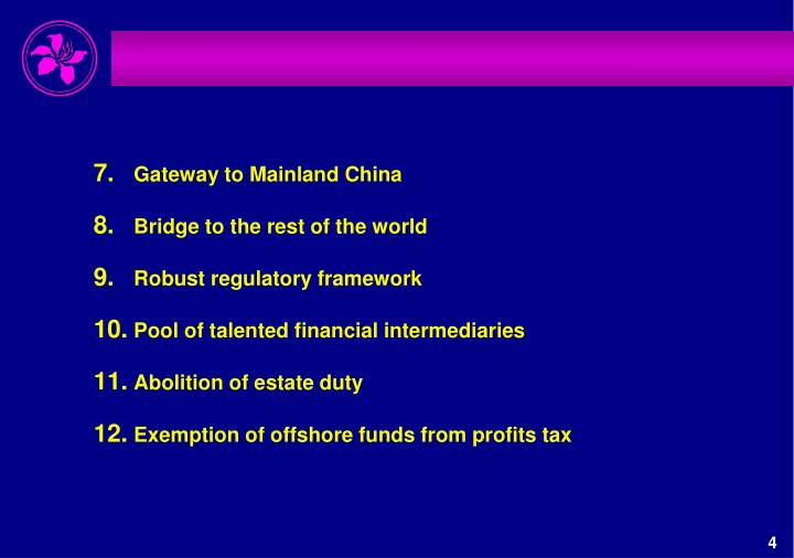 Gateway to Mainland China