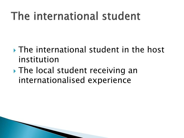 The international student