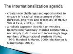 the internationalization agenda