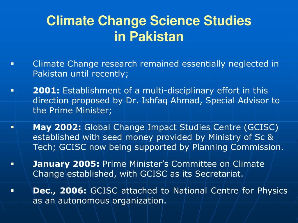 Climate Change Science Studies