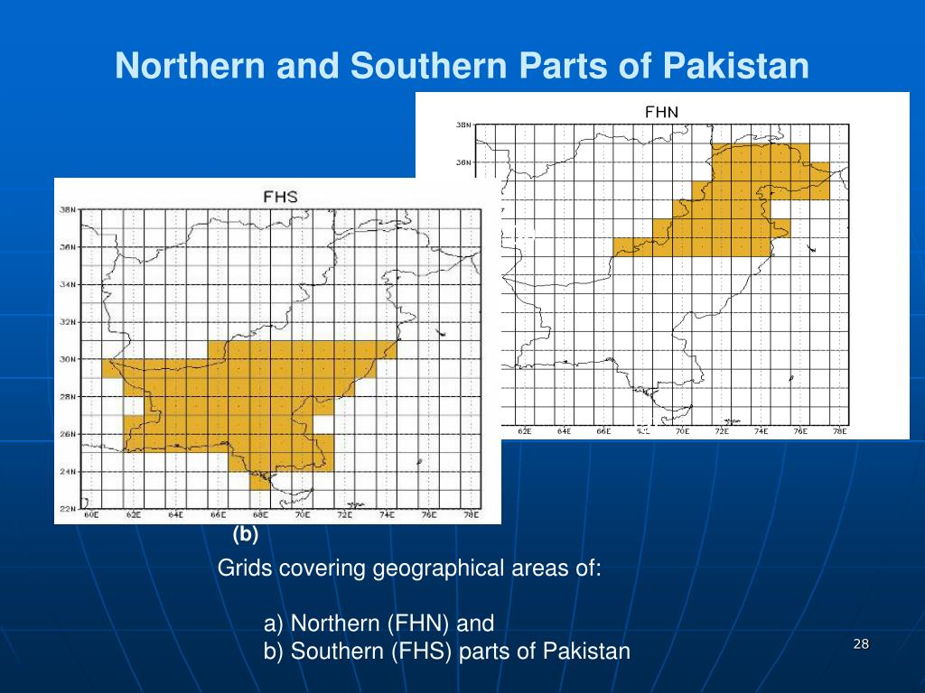 Northern and Southern Parts of Pakistan