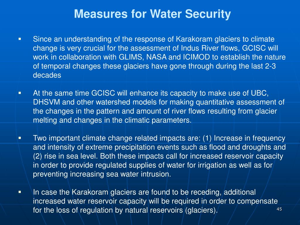 Measures for Water Security