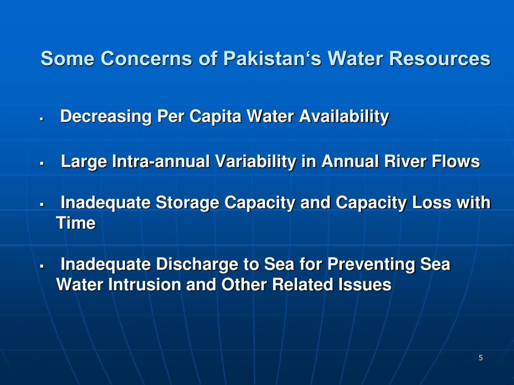 Some Concerns of Pakistan's Water Resources