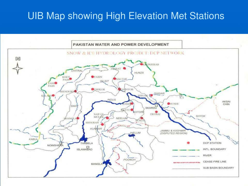 UIB Map showing High Elevation Met Stations