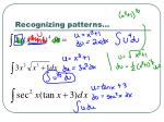 recognizing patterns