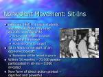 nonviolent movement sit ins