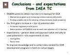 conclusions and expectations from iaea tc