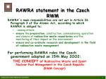 rawra statement in the czech rwm