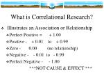 what is correlational research
