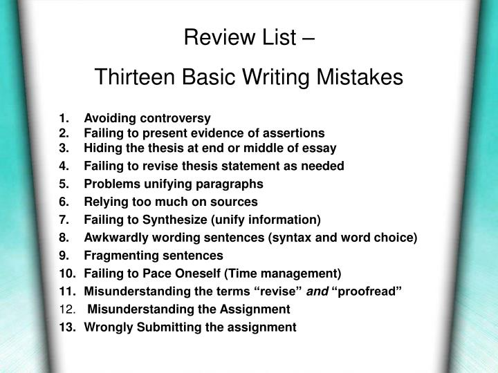Review List –