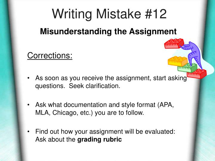 Writing Mistake #12