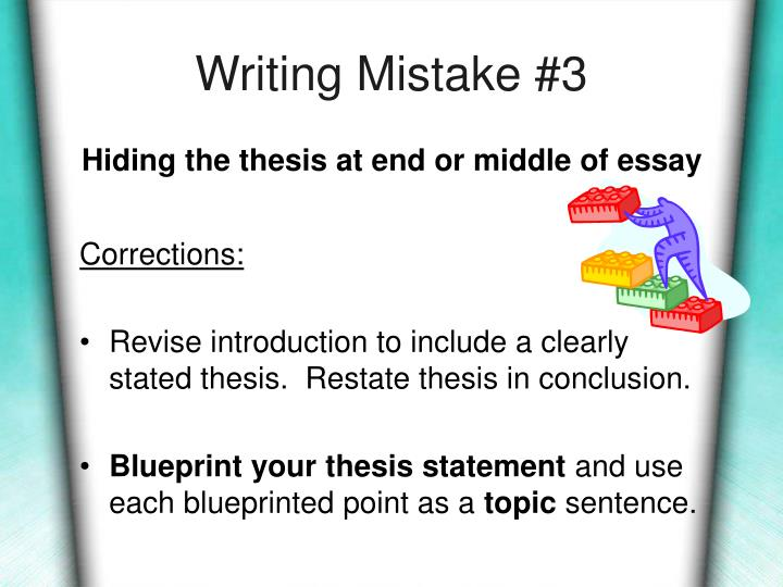 Writing Mistake #3