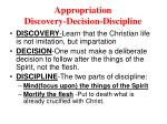 appropriation discovery decision discipline