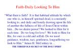 faith daily looking to him
