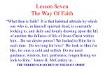 lesson seven the way of faith2