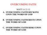 overcoming faith