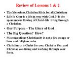 review of lessons 1 2