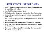 steps to trusting daily