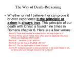 the way of death reckoning