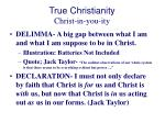 true christianity christ in you ity