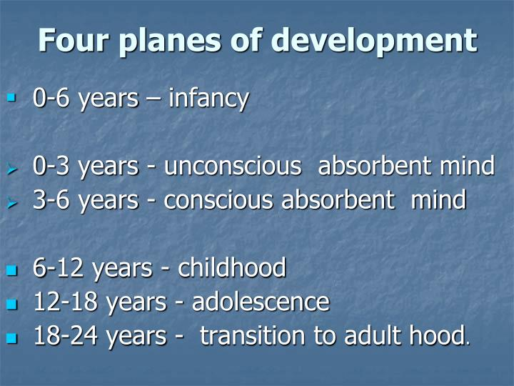 the four planes of development in montessori The four planes of development ©sarah werner andrews – montessori institute northwest 1 no portion may be reproduced without.