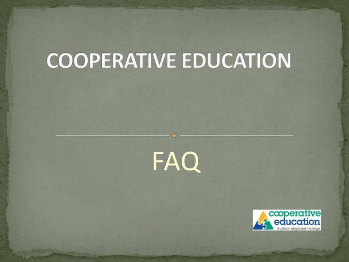 cooperative education n.