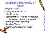 kaufman s hierarchy of skills