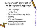 slingerland instruction an integrated approach