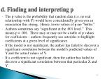 d finding and interpreting p