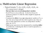 e multivariate linear regression