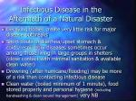 infectious disease in the aftermath of a natural disaster5