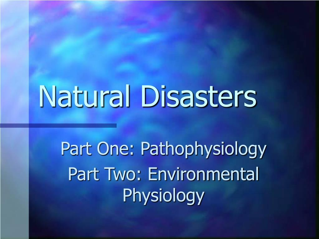 natural disasters l.