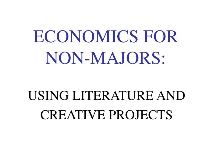economics for non majors n.