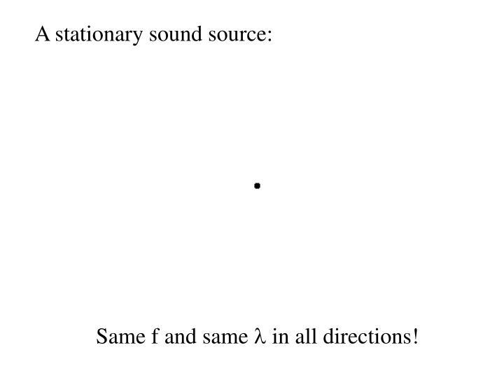 A stationary sound source: