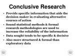 conclusive research