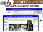 awla german spanish interfaces