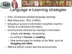 language e learning strategies