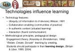 technologies influence learning