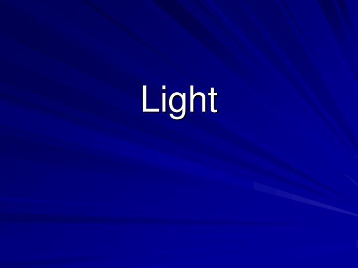 light n.