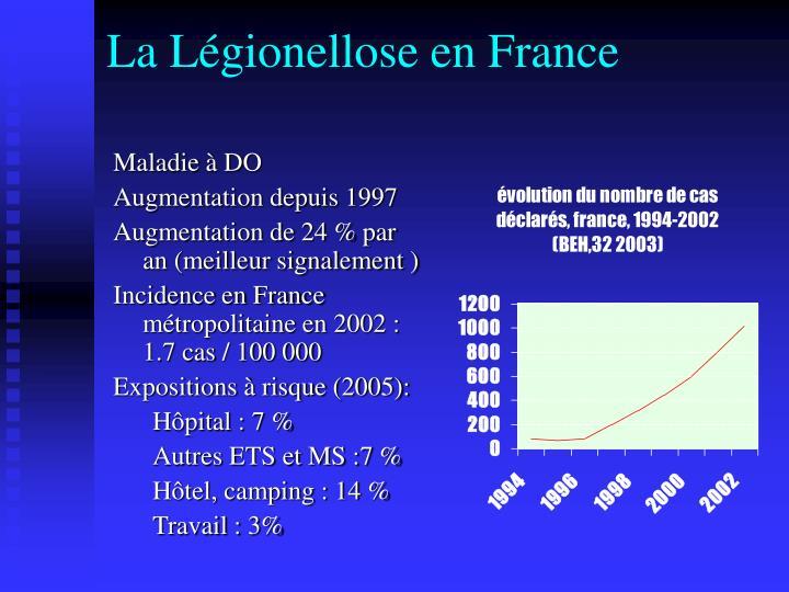 La Légionellose en France