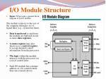 i o module structure