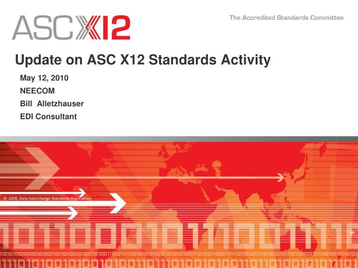 update on asc x12 standards activity n.