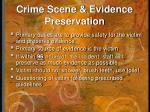 crime scene evidence preservation