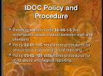 idoc policy and procedure1