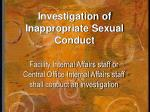 investigation of inappropriate sexual conduct1