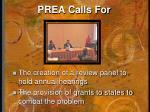 prea calls for1