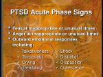 ptsd acute phase signs