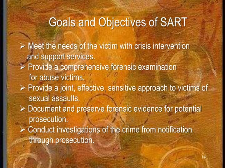 Goals and Objectives of SART