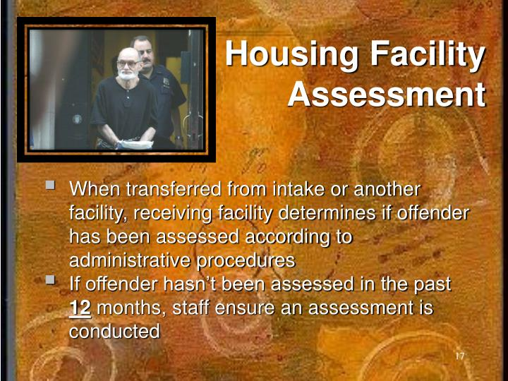 Housing Facility Assessment
